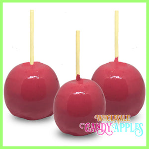 Hot Pink Plain Candy Apples