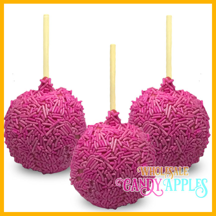 Pink Sprinkle Candy Apples