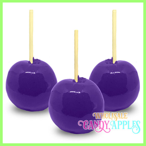 Purple Plain Candy Apples