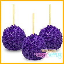 Purple Sprinkle Candy Apples