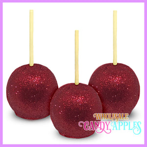 Red Glitter Candy Apples