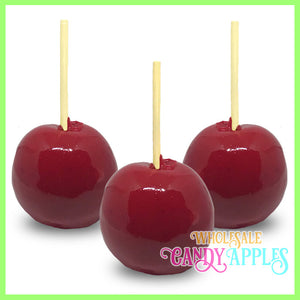 Red Plain Candy Apples