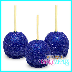 Royal Blue Sugar Crystal Candy Apple
