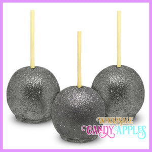 Silver Glitter Candy Apples