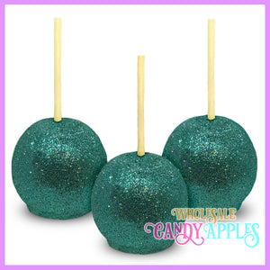 Teal Chocolate Glitter Apples