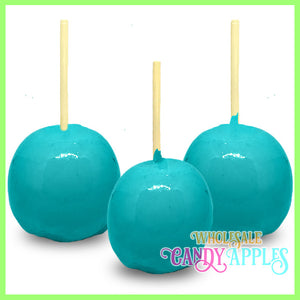 Turquoise Plain Candy Apples