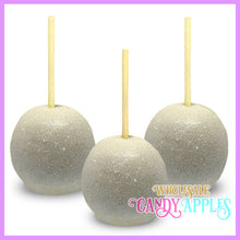 White Glitter Candy Apples