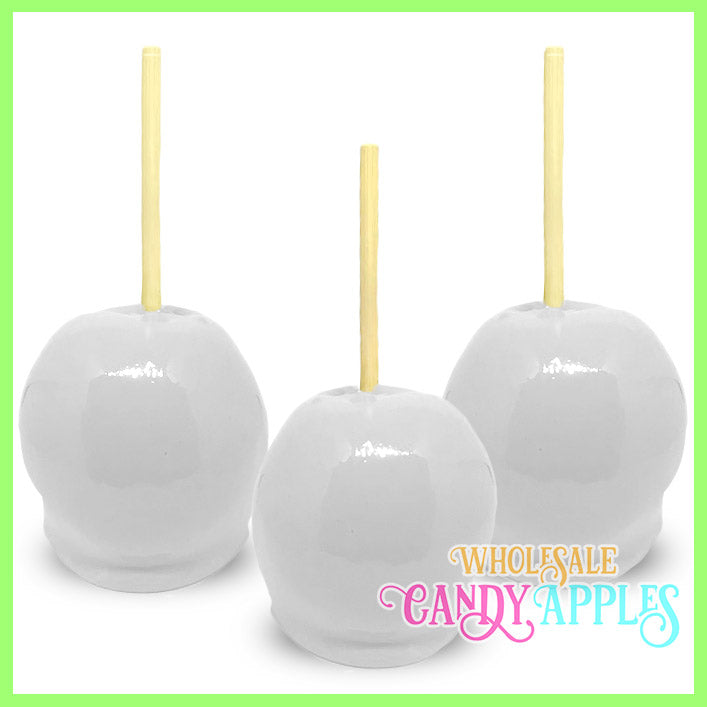 White Plain Candy Apples