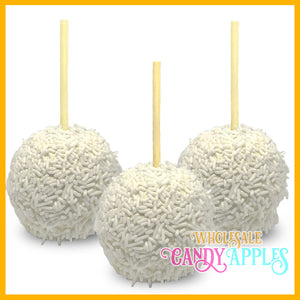 White Sprinkle Candy Apples