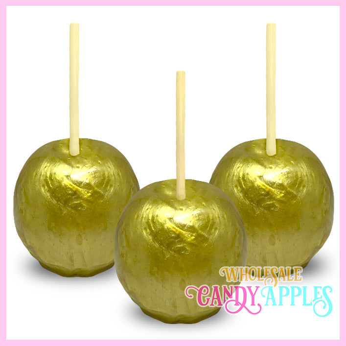 Yellow Pearlized Candy Apple