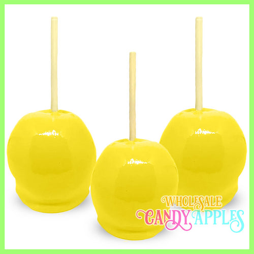 Yellow Plain Candy Apples