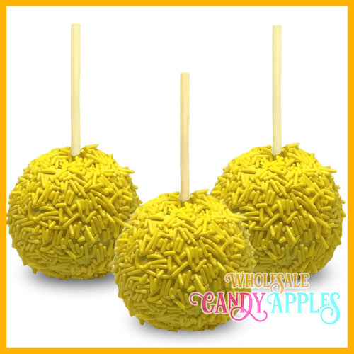 Yellow Sprinkle Candy Apples