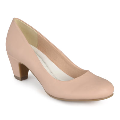 Brinley Co. Womens Round Toe Comfort Fit Classic Pumps