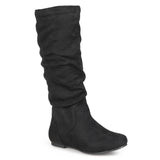 Brinley Co. Womens Regular Sized and Wide-Calf Mid-Calf Slouch Riding Boots