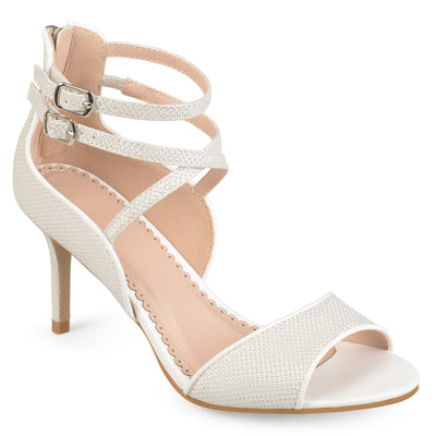 Brinley Co. Womens Open-toe Glitter Strappy Heels