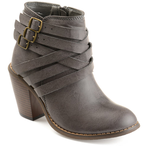 Brinley Co. Womens Ankle Multi Strap Boots