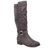 Comfort by Brinley Co. Womens Wide Calf Classic Riding Boot