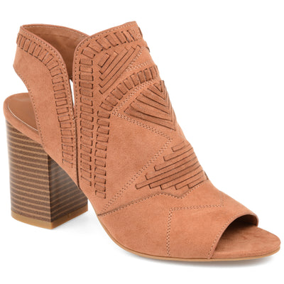 Brinley Co. Womens Woven Detail Boho Bootie