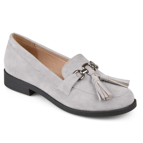 Brinley Co. Womens Tassel Faux Suede Loafers