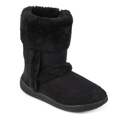 Brinley Kids Toddler Little Girl Faux Fur Trim Microsuede Boots