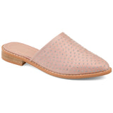 Brinley Co. Womens Studded Almond Toe Mule