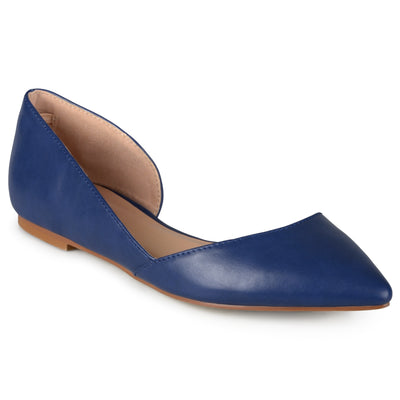 Brinley Co. Womens D'Orsay Cut-out Pointed Toe Fashion Flats