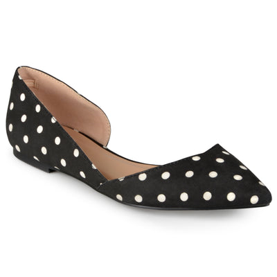 Brinley Co. Womens Wide Width D'Orsay Cut-out Pointed Toe Fashion Flats