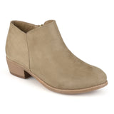 Brinley Co. Womens Wide Width Heeled Faux Suede Booties