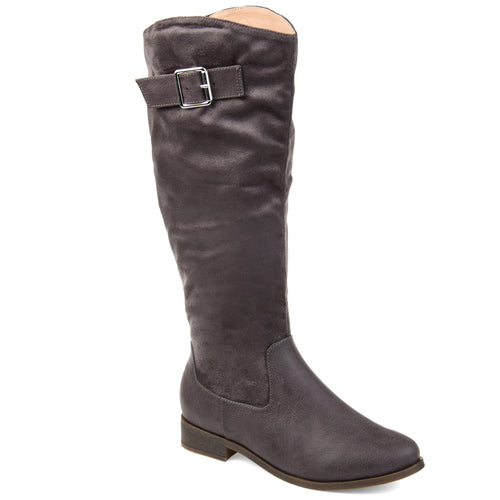 Comfort by Brinley Co. Womens Extra Wide Calf Two-tone Riding Boot