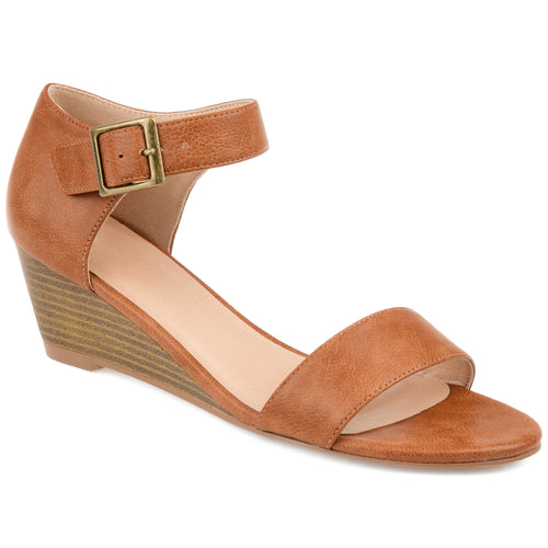 Brinley Co. Womens Open-toe Ankle Strap Wedge