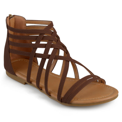 Brinley Co. Womens Strappy Gladiator Flat Sandals