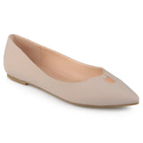 Brinley Co. Womens Pointed Toe Classic Flats