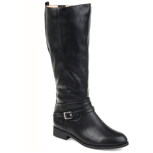 d188222485df Comfort by Brinley Co. Womens Extra Wide Calf Strap Riding Boot ...