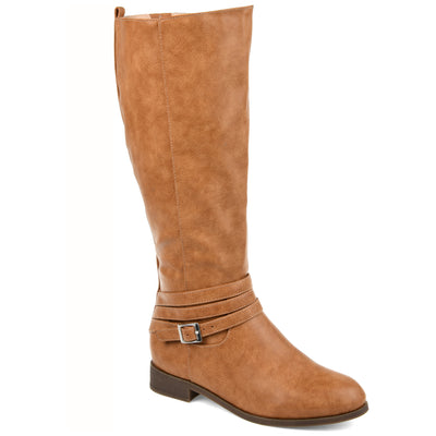 Comfort by Brinley Co. Womens Extra Wide Calf Strap Riding Boot