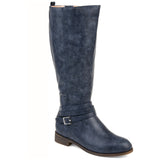 Comfort by Brinley Co. Womens Strap Riding Boot