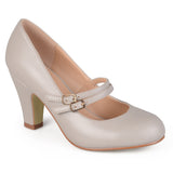 Brinley Co. Womens Matte Finish Classic Mary Jane Pumps