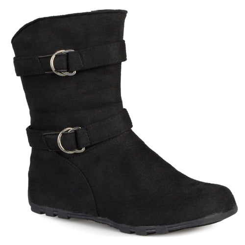 Brinley Kids Toddler Little Girl Buckle Mid-calf Boots