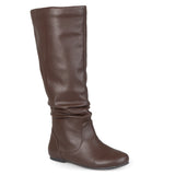 Brinley Co. Womens Regular and Wide-Calf Slouch Riding Mid-Calf Boots