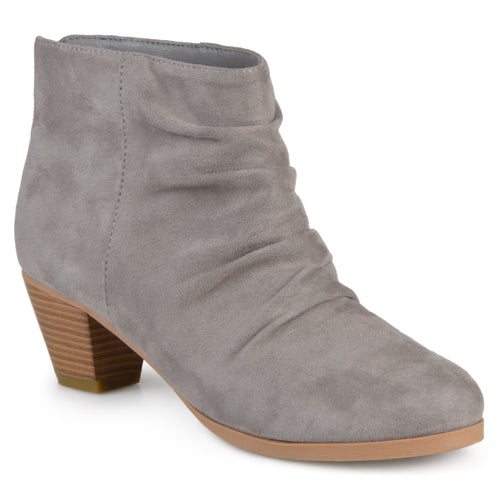 Brinley Co. Womens Faux Suede Slouch High Heel Ankle Boots