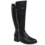 Comfort by Brinley Co. Womens Extra Wide Calf Side Zipper Riding Boot