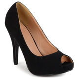 Brinley Co. Womens Peep-toe Platform Pumps