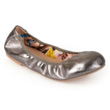 Brinley Co. Womens Scrunch Flexible Stretchy Side Round Toe Ballet Flats