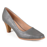 Brinley Co. Womens Stacked Heel Classic Pumps