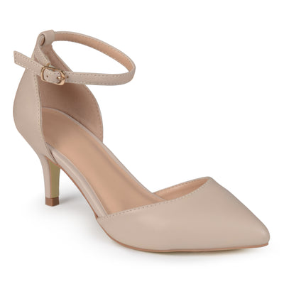 Brinley Co. Womens Matte Ankle Strap Pumps
