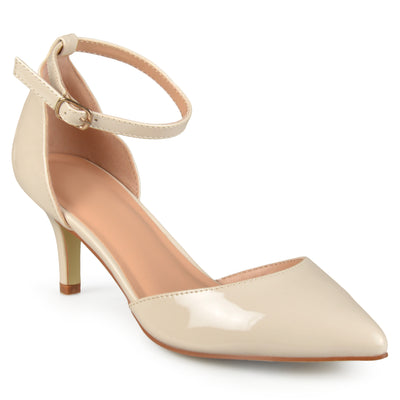 Brinley Co. Womens Ankle Strap Patent Pumps