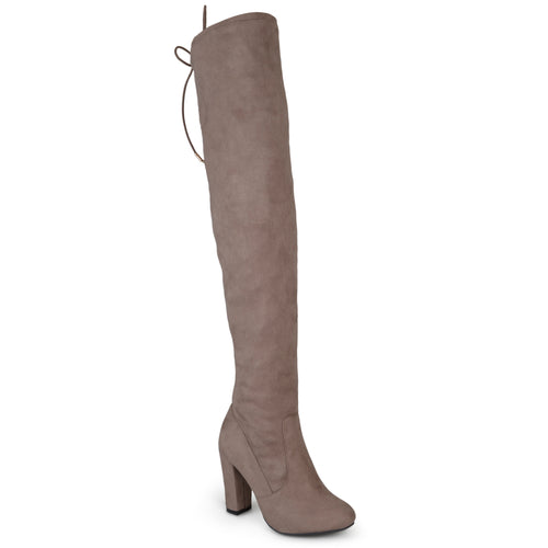 Brinley Co. Womens Over-the-knee High Heel Faux Suede Boots