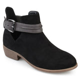 Brinley Co. Womens Myra Faux Suede Stacked Heel Booties