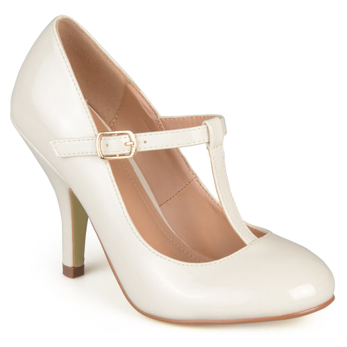 Brinley Co. Womens T-strap Patent Pumps