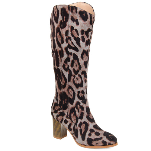 Comfort by Brinley Co. Womens Wide Calf Microsuede Mid-calf Boot