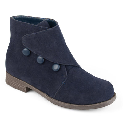 Brinley Co. Kids Faux Suede Button Vintage Boots